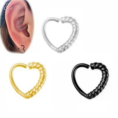 Nose Ring Hoop Rings Surgical Steel Body Piercing Earring Stud Jeweller Beard