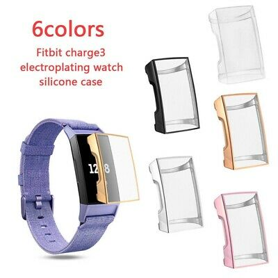 Protective Shell Screen Protector Cover TPU Case For Fitbit Charge 3 Soft Slim