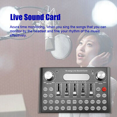 Professional Audio USB Headset Karaoke Steamers K-song Live Sound Card O3A4
