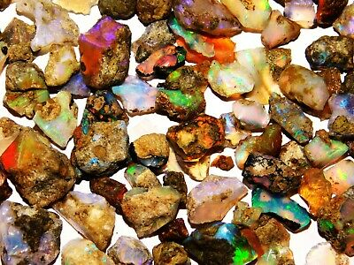 51 Cts Natural Super AAA Welo Fire Ethiopian Opal-Rough Wholesale Gemstone Lot