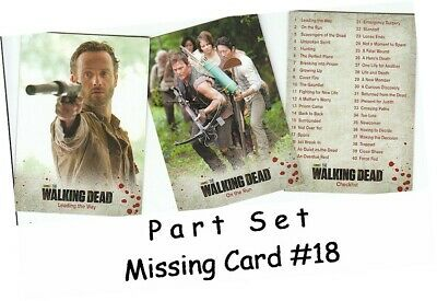 Walking Dead Season 3 Part 1 - 72 Card Basic/Base PART Set - Missing Card #18