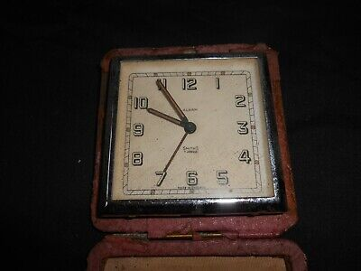 Vintage Smiths  7 Jewels 8 Day Travel Alarm Clock Made In England For Spares.