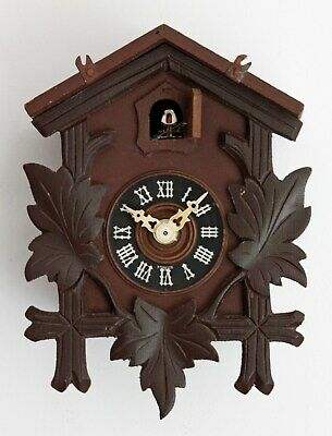 Vintage 22cm Foreign Wooden Wall Clock - NOT CUCKOO Black Forest Country Kitchen