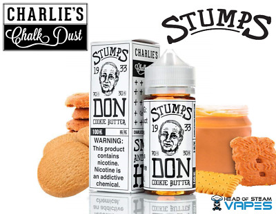 Don Cookie Butter Vape Juice by Charlies Chalk Dust eliquid 100ml 0mg (70/30)