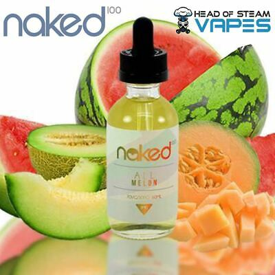 Naked 100 All Melon Vape Juice - Watermelon Premium eliquid 50ml 0mg (70VG/30PG)