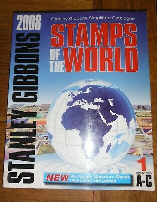 Stanley Gibbons Stamps of the World Catalogue 5 Volumes A-Z 2008 Set