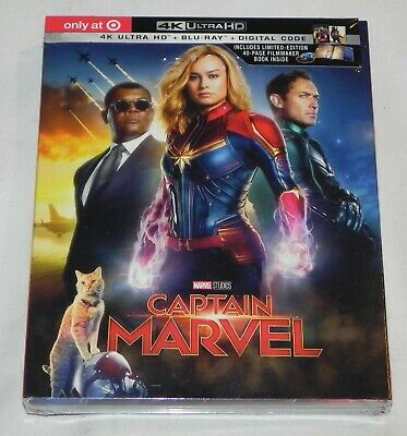 Captain Marvel (4K Ultra Hd + Blu-Ray + Digital) Target Exclusive - Brand New!!