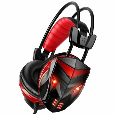 3.5mm Gaming Headset MIC LED Headphones for PC SW Laptop PS4 Slim Pro Xbox One