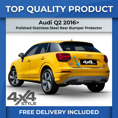 Audi Q2 2016> Polished Stainless Steel Rear Bumper Sill Trim Cover Protector