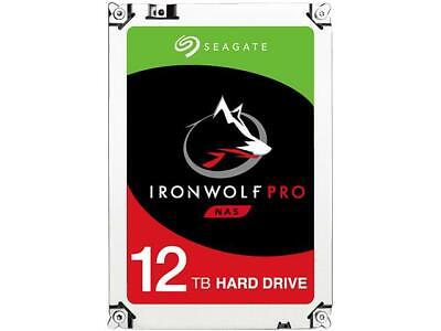 "Seagate Ironwolf Pro Nas 12tb St12000ne0007 3.5"" Internal Sata3 7200rpm 256mb Ca"