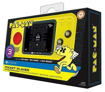 Pac-Man Pocket Player Retro Arcade Game - 3 Games Included Brand New My Arcade