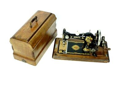 1920's English JONES FAMILY C.S. Hand Crank Sewing Machine - FREE P&P [5329]