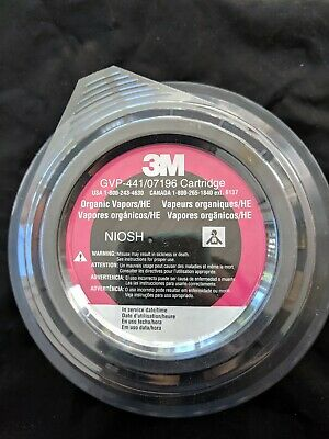 Lot of 1, 3M GVP-441/07196 Cartridge, organic vapors, expires 11/27/21, new