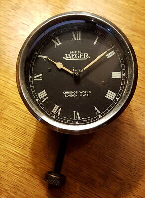 "1930s Jaeger  31/4"" dashboard clock - 8-day manual wind movement exc."