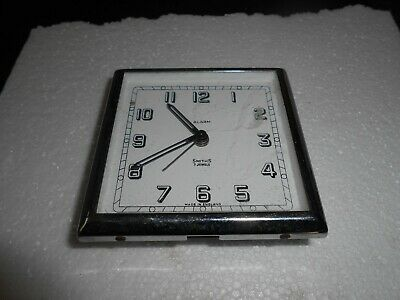 Vintage Smiths  7 Jewels Lever 8 Day Travel Alarm Clock Made In England Spares!
