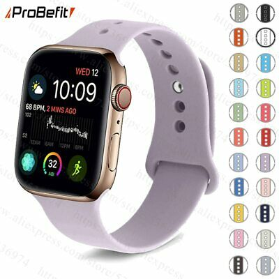 Colorful Soft Silicone Sports Band for Apple Watch Series 1 2 3 4 38MM 42MM