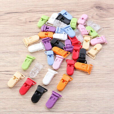 40pcs Plastic Pacifier Clips Gripping Teeth Dummy Clips for Baby Infant Toddler