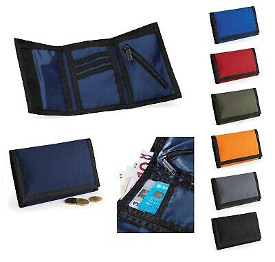 Mens Boys Ripper Wallet Womens Tri-fold Purse Coin Card Travel Holder