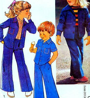 Vintage 80s GIRLS & BOYS JACKET & TROUSERS Sewing Pattern Years 2 to 6 RETRO