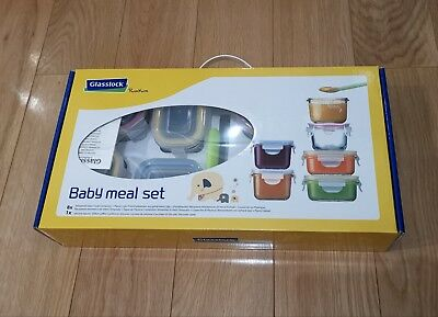 Glasslock 9 Pieces Baby Meal Set