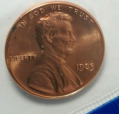 1985-P 1C Lincoln Memorial Cent 19tc0109 BU-Mint Set Only 50 Cents for Shipping