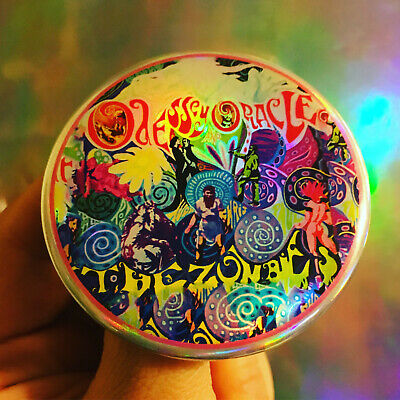 """The Zombies Odessey and Oracle 60s Psychedelic pop holographic 2.25"""" button"""