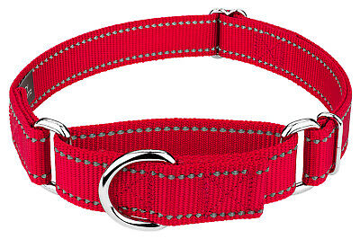 Country Brook Petz® Red Reflective Nylon Martingale Dog Collar - Large