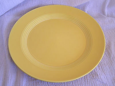 "1980 Homer Laughlin Yellow Diner Ring Wear Large 10"" Dinner Plate Dish RARE!!"