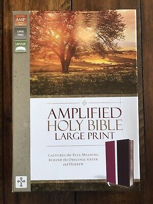 AMPLIFIED HOLY BIBLE, Large Print, Bonded Leather, Burgundy by
