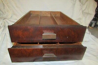 """Antique /VINTAGE 50""""S DECO SMALL DRESSER DRAWER WITH PULLS-SALVAGE"""