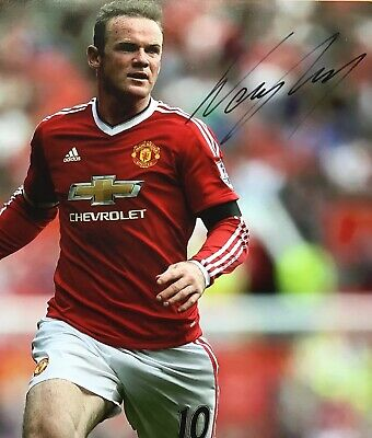 "WAYNE ROONEY,GENUINE HAND SIGNED 8"" x 12"" PHOTO,+ COA,LIFE TIME GUARANTEE"