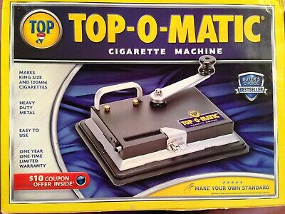Top-O-Matic Cigarette Machine (Still in Box - Used only a few times)