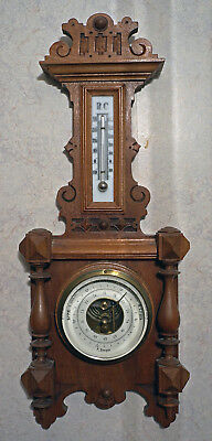 Antique Barometer + Thermometer, 19 century from Russia, in excellent condition