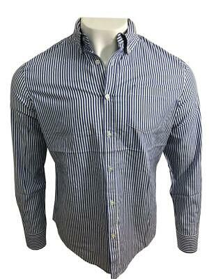 Ex UK Chainstore Men's Long Sleeves Stripe Cotton Summer Casual Shirt Tops