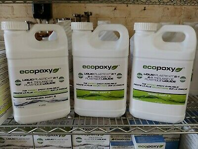 Ecopoxy | Epoxy Resin | Liquid Plastic 2:1 Ratio 12L (3.1 gal) kit