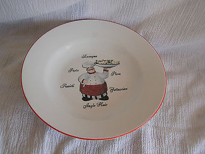 Emerald Italian French Chef Cook Waiter Pasta Bowl Soup Cereal Bowl CUTE!