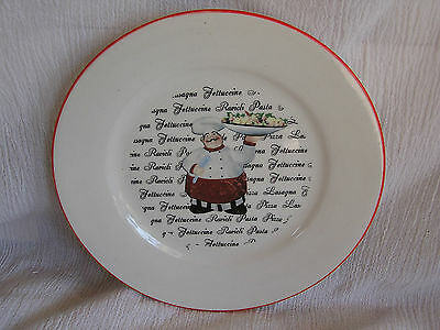 Emerald Italian French Chef Cook Waiter Pasta Bowl Salad Plate Dish CUTE!