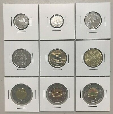CANADA 2019 New 100% Complete circulation set + Half-Dollar (UNC from mint roll)