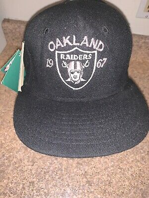 bd6e0ef3f0dce4 New Vintage Roman NFL Throwbacks 1967 Oakland Raiders Fitted Hat Rare 7 1/8