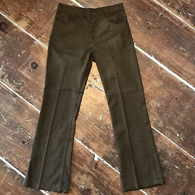 d0e0cd39c82 Vintage Levis 646 Sta-Prest Bell Bottom Pants 70s Mens 32x31 Brown Twill  Flares