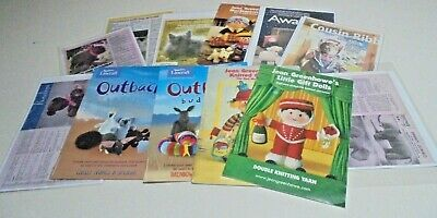 Toy Knitting Pattern leaflets Jean Greenhowes,Beatrix Wombat Cockatoo you Choose