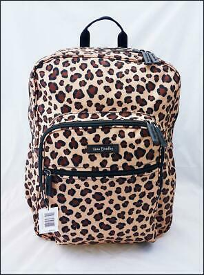 becdc486015f VERA BRADLEY LIGHTEN Up Campus Backpack Leopard Cheetah Animal Print ...