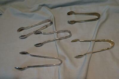 Mixed Lot 5 Vintage EPNS Silver Plate Sugar Tongs, Nips