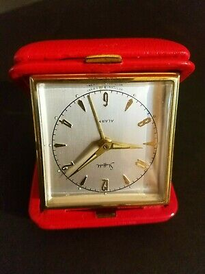 TESTED GOOD Vintage Sheffield Travel Alarm Clock Made In West Germany