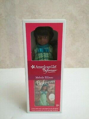 new in box american girl beforever Melody Ellison mini doll with book 6.5in doll