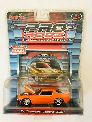 Maisto 2005 1/64 Pro Rodz Car Orange 1971 Chevrolet Camaro Z/28 NIB