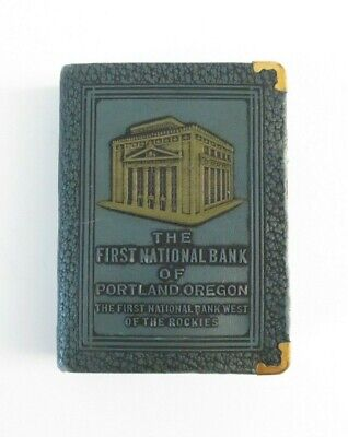Vtg 1920s The First National Bank Of Portland Bank Money Box Bankers Utilities