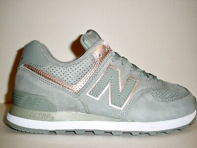 new arrival 1f06c 6bce9 WOMENS NEW BALANCE Suede Pink And Flower Print Shoes Sz 6 ...
