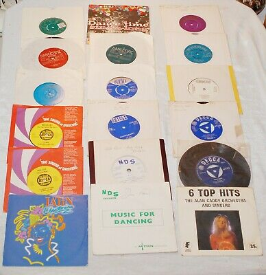 """18 Strictly BALLROOM DANCING 7"""" VINYL SINGLES 60s/70s Records Job Lot Collection"""
