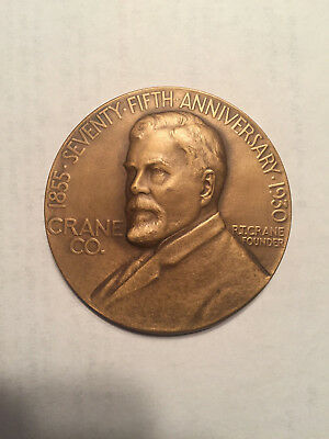 Vintage R.T. Crane Brass & Bell Foundry 75th Anniversary Bronze Coin Medal 1930